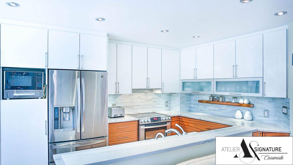 Armoire de cuisine moderne laval par Atelier Signature