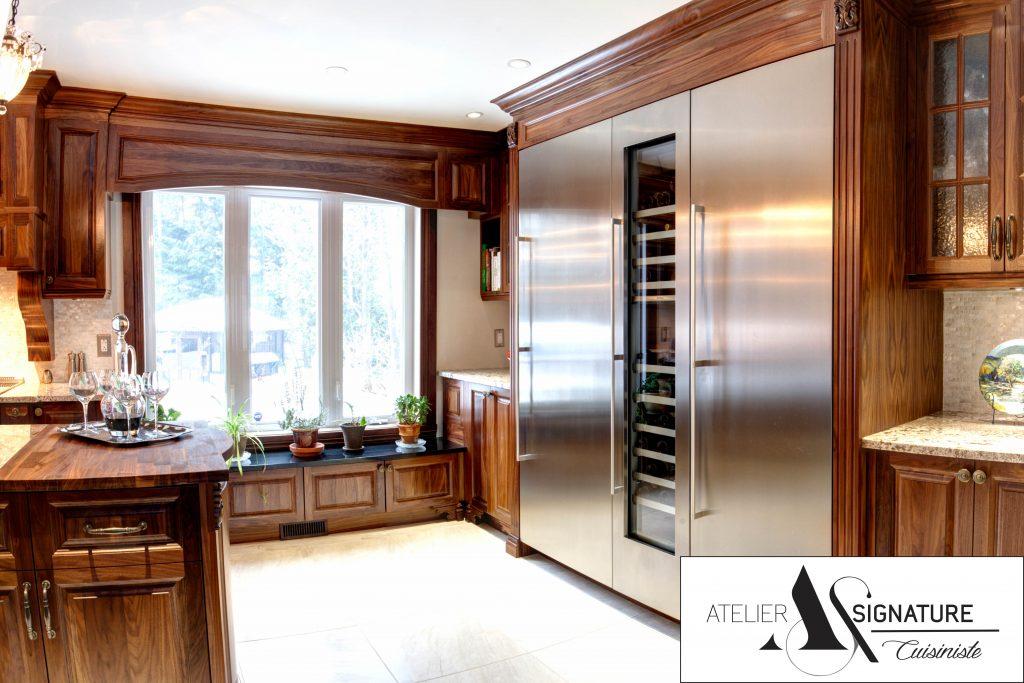 Reno-Assistance - Refrigérateur encastre - Cuisine Style Classqiue - Atelier Signature - Cuisiniste