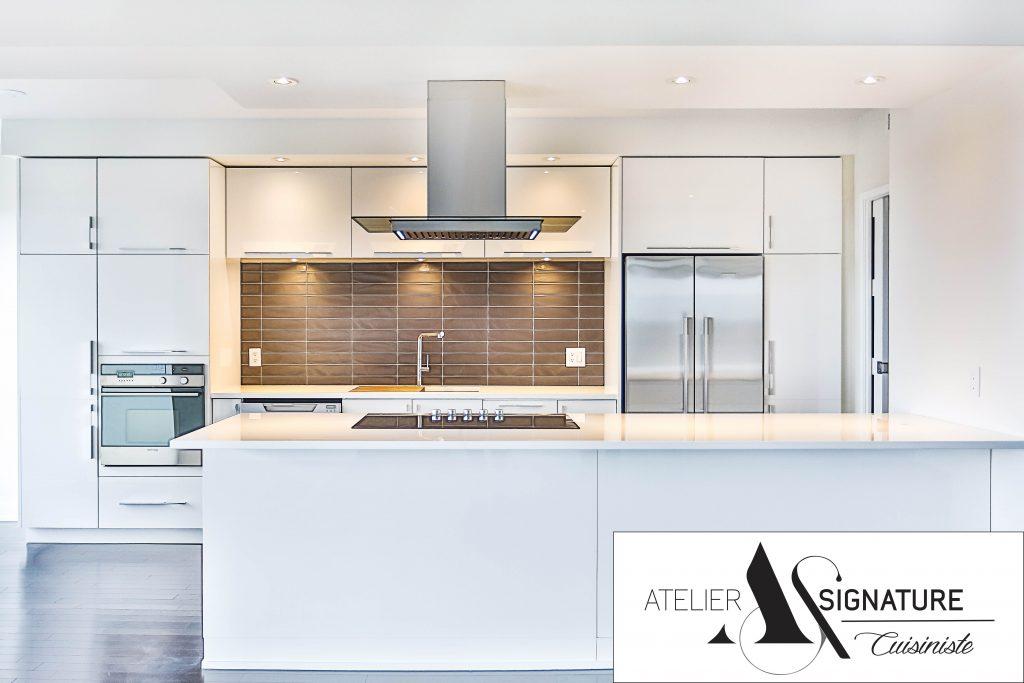 Renovation armoire de cuisine moderne laval Atelier Signature